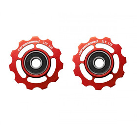 CeramicSpeed Road/MTB Pulley Wheels Ceramic 607 for Shimano 11-speed red